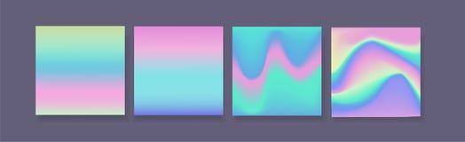 Sistema de la pendiente del holograma de cuatro fondos con el contexto oscuro libre illustration
