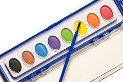 Sistema de la pintura de Children's Imagenes de archivo