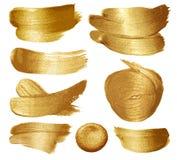Sistema de la pintura del oro stock de ilustración