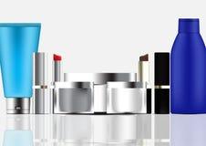 Sistema de la plantilla cosmética del producto libre illustration