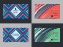 Sistema de la plantilla creativa abstracta de la disposición de diseño de la tarjeta de visita con el fondo colorido Fondos moder Imágenes de archivo libres de regalías
