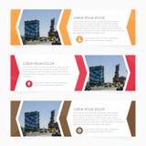 Sistema de la plantilla de la bandera del diseño de negocio Bandera del Web Plantilla de la disposición del jefe Banderas horizon Imágenes de archivo libres de regalías