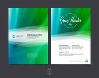 Sistema de la plantilla de la disposición de diseño del folleto, del aviador y de la cubierta del negocio Fotos de archivo
