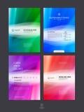 Sistema de la plantilla de la disposición de diseño del folleto, del aviador y de la cubierta del negocio Imagen de archivo libre de regalías