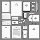 Sistema de la plantilla de la identidad corporativa Fotos de archivo libres de regalías