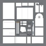 Sistema de la plantilla de la identidad corporativa Maqueta en blanco del negocio Foto de archivo libre de regalías