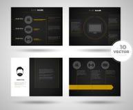 Sistema de la plantilla de la presentación del negocio fondos del diseño de la plantilla de PowerPoint libre illustration