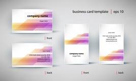 Sistema de la plantilla de la tarjeta de visita Fotos de archivo