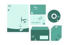 Sistema de la plantilla de los efectos de escritorio del negocio Imágenes de archivo libres de regalías