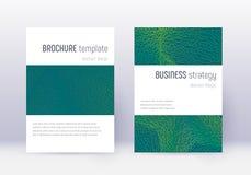 Sistema de la plantilla del diseño de la cubierta de Minimalistic Abst verde libre illustration