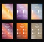 sistema de la plantilla del diseño del aviador del vector fotos de archivo libres de regalías