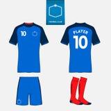 Sistema de la plantilla del equipo del fútbol o del fútbol para su club de deporte Imagen de archivo libre de regalías