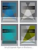 Sistema de la plantilla del folleto, del aviador, de la portada de revista o del cartel del negocio Fotografía de archivo libre de regalías