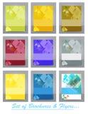 Sistema de la plantilla del folleto, del aviador, de la portada de revista o del cartel del negocio Imagenes de archivo