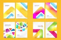 Sistema de la plantilla del folleto del vector Diseño abstracto y ilustración del vector