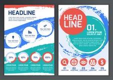 Sistema de la plantilla del vector para el folleto, aviador, cartel, uso libre illustration