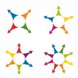 Sistema de la plantilla infographic del diseño de las flechas Ilustración del vector stock de ilustración