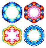 Sistema de la plantilla redonda colorida del vector Diseño abstracto con el lugar para su texto EPS10 Foto de archivo