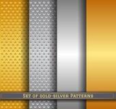Sistema de la plata pattern11 del oro Fotografía de archivo