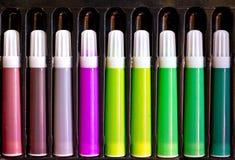 Sistema de la pluma del color Imágenes de archivo libres de regalías