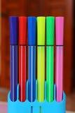 Sistema de la pluma del color Fotos de archivo libres de regalías