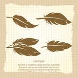 Sistema de la pluma del vintage en la página del cuaderno Imagen de archivo