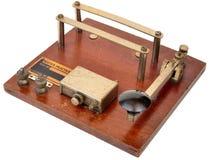 Sistema de la práctica del código Morse Ww2 imagen de archivo