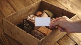 Sistema de la presentación de la panadería del pan del artesano metrajes