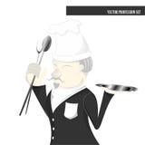 Sistema de la profesión, historieta del cocinero Fotos de archivo libres de regalías