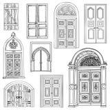 Sistema de la puerta ilustración del vector