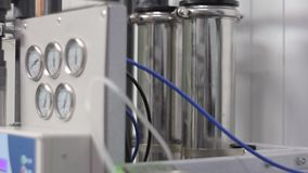 Sistema de la purificación del agua almacen de video