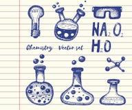 Sistema de la química y del vector de la bioquímica libre illustration