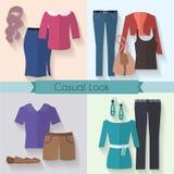 Sistema de la ropa de la mujer Imagen de archivo