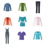 Sistema de la ropa de la mujer Imagen de archivo libre de regalías