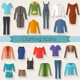 Sistema de la ropa de la mujer Fotos de archivo libres de regalías
