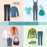 Sistema de la ropa de la mujer Fotografía de archivo
