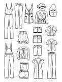 Sistema de la ropa informal de las mujeres Fotos de archivo libres de regalías