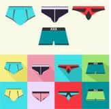 Sistema de la ropa interior de los hombres Fotos de archivo