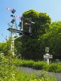 Sistema de la señal de las señales del tren y de peligro del silbido Foto de archivo