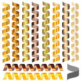 Sistema de la serpentina de diversos tonos de oro libre illustration