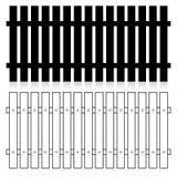 Sistema de la silueta de la cerca Imagen de archivo libre de regalías