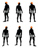 Sistema de la silueta de los hombres Imagenes de archivo