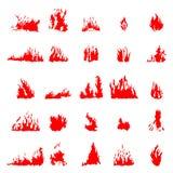 Sistema de la silueta del fuego libre illustration