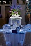 Sistema de la tabla de la boda Imagen de archivo libre de regalías