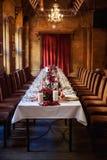 Sistema de la tabla para casarse u otra cena abastecida del evento Imagen de archivo