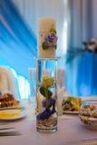 Sistema de la tabla para casarse u otra cena abastecida del evento Imagenes de archivo