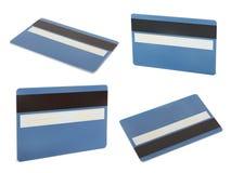 Sistema de la tarjeta azul del creadit Imágenes de archivo libres de regalías