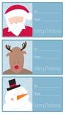 Sistema de la tarjeta de Navidad Imagen de archivo libre de regalías