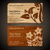 Sistema de la tarjeta de visita Imágenes de archivo libres de regalías