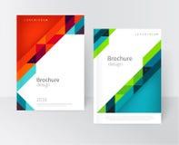 Sistema de la tarjeta de visita del diseño de la cubierta Imágenes de archivo libres de regalías